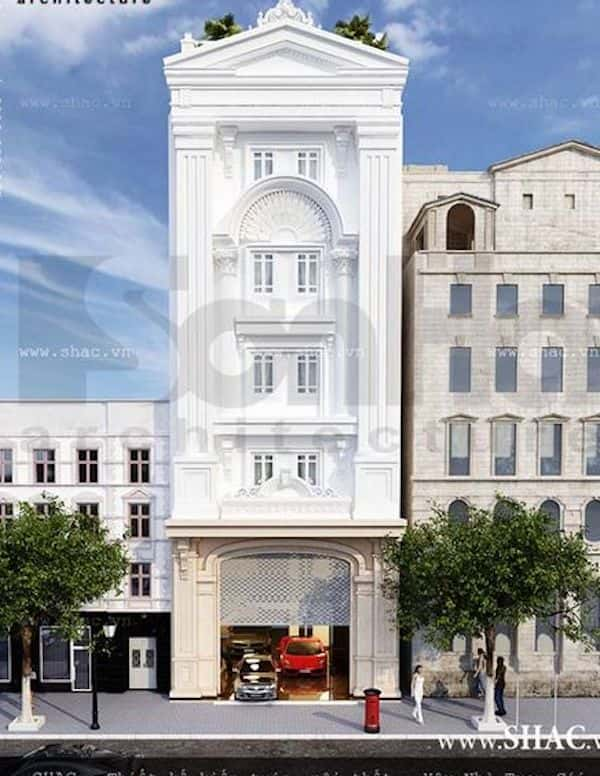 khach san co dien 4 - Thiết kế khách sạn mini
