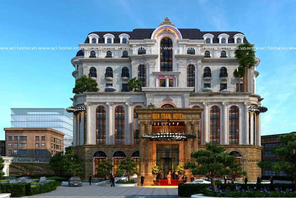 khach san co dien 5 - Thiết kế khách sạn cổ điển sang trọng