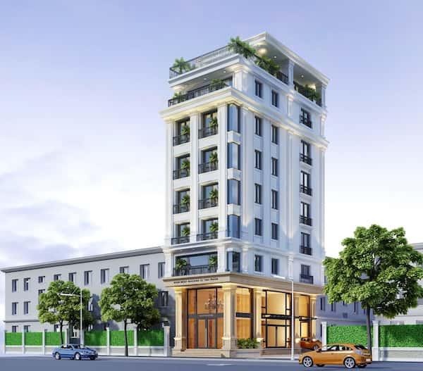 khach san co dien dep 1 - Thiết kế khách sạn mini