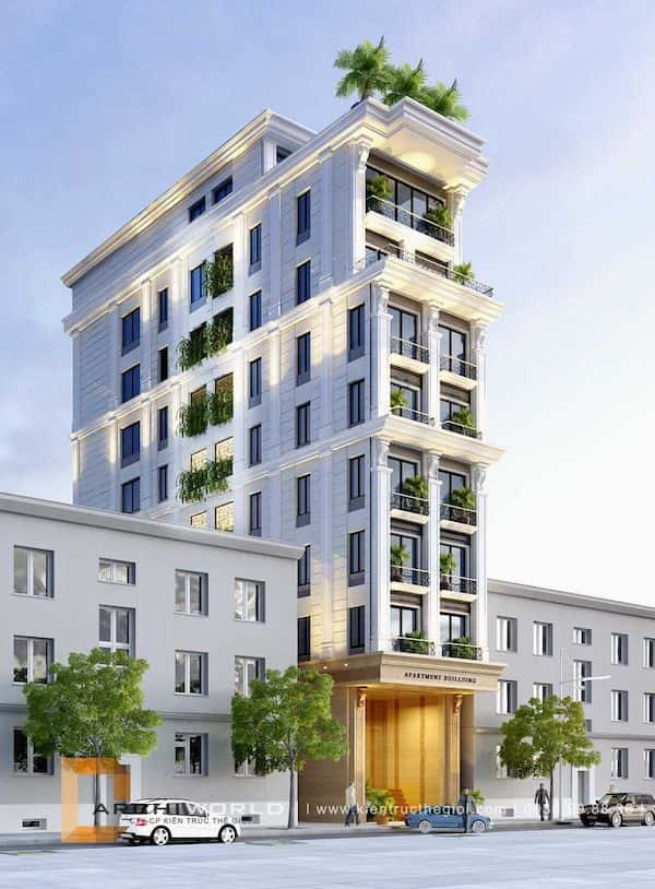 khach san co dien dep 2 - Thiết kế khách sạn mini