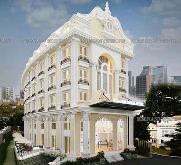 khach san co dien - Thiết kế khách sạn cổ điển sang trọng