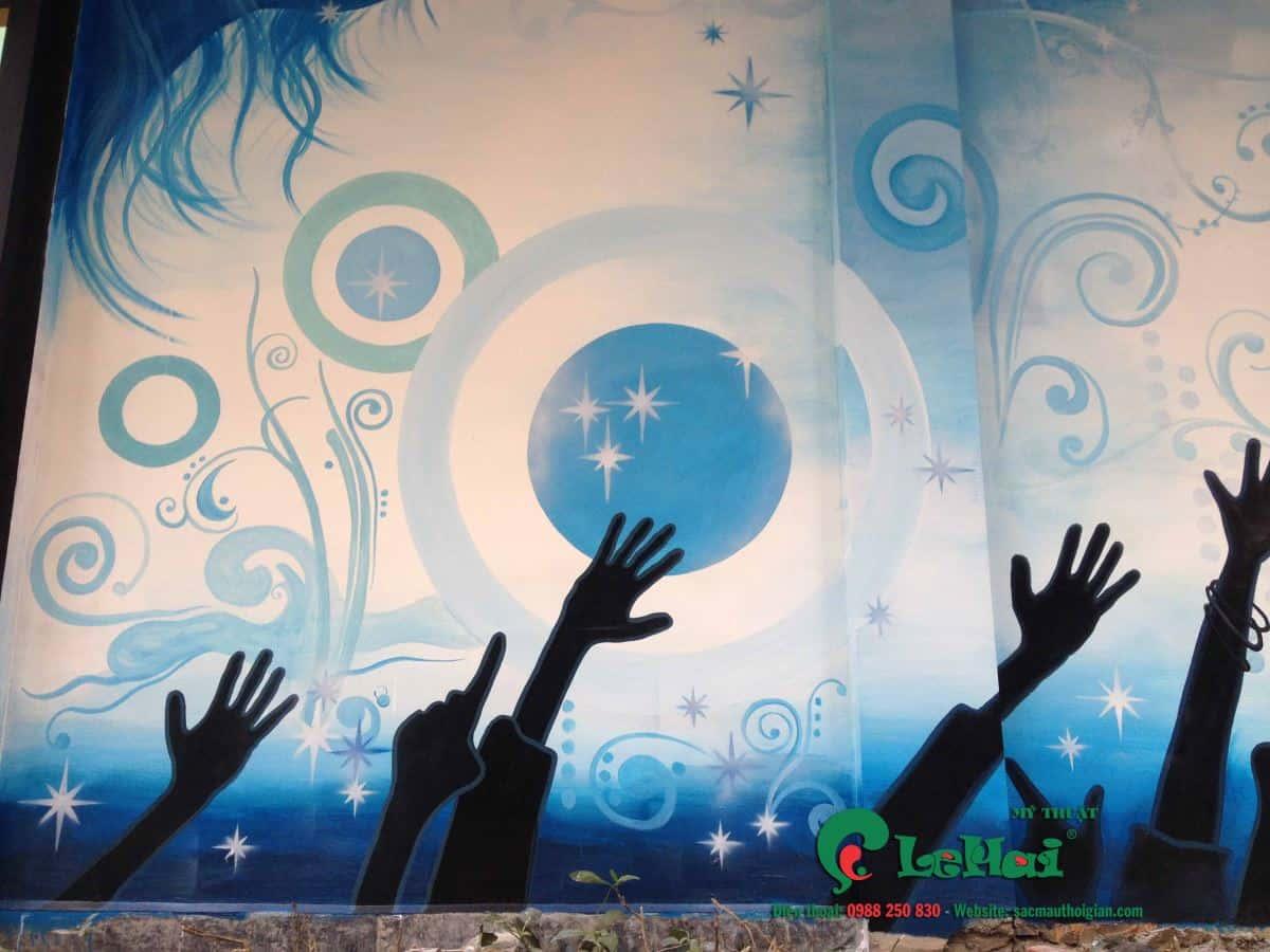ve tranh tuong quan karaoke 001 - Vẽ tranh tường phòng Karaoke