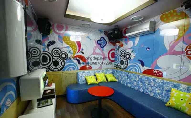 ve tranh tuong quan karaoke 003 - Vẽ tranh tường phòng Karaoke