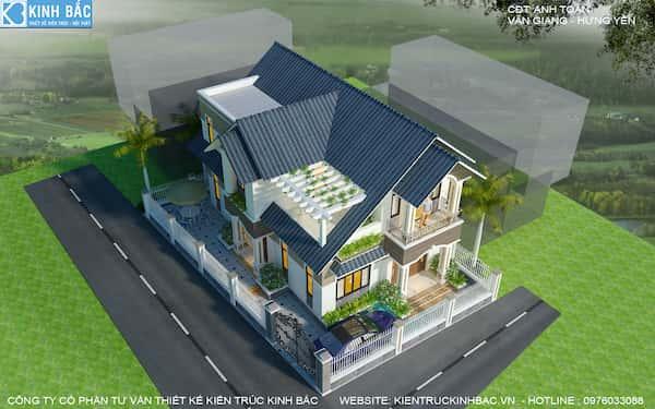 biet thu 2 tang anh toan hung yen 6 1 - 57 Mẫu thiết kế nhà mái thái đẹp nếu làm nhà các bạn nên tham khảo, mát phù hợp khí hậu nhiệt đới