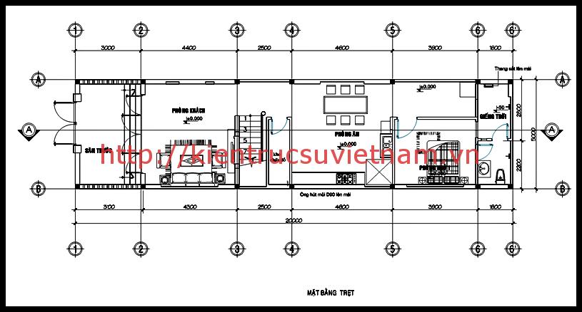 nhà ống 2 tầng mặt tiền 5m 1 - Xây nhà 2 tầng 75m2 mặt phố đẹp với gói kinh phí tiết kiệm
