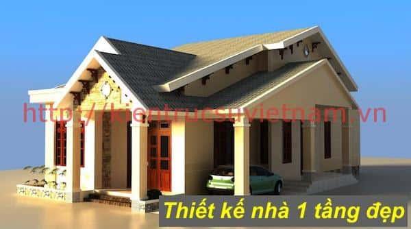 nha 1 tang ms1a - 57 Mẫu thiết kế nhà mái thái đẹp nếu làm nhà các bạn nên tham khảo, mát phù hợp khí hậu nhiệt đới