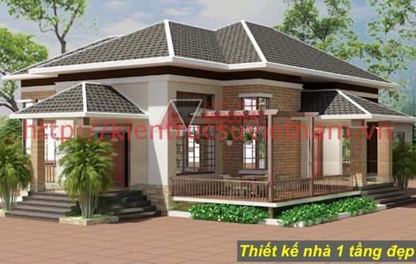 nha 1 tang ms5 - 57 Mẫu thiết kế nhà mái thái đẹp nếu làm nhà các bạn nên tham khảo, mát phù hợp khí hậu nhiệt đới