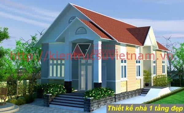 nha 1 tang ms6 - 57 Mẫu thiết kế nhà mái thái đẹp nếu làm nhà các bạn nên tham khảo, mát phù hợp khí hậu nhiệt đới