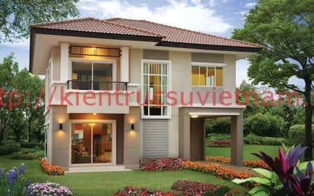 nha 2 tang dep 1 - 57 Mẫu thiết kế nhà mái thái đẹp nếu làm nhà các bạn nên tham khảo, mát phù hợp khí hậu nhiệt đới