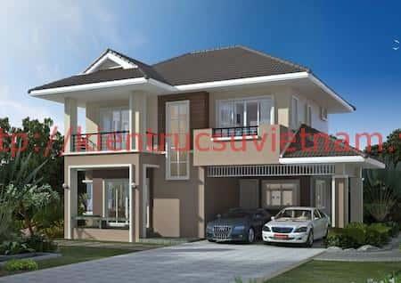 nha 2 tang dep 2 - 57 Mẫu thiết kế nhà mái thái đẹp nếu làm nhà các bạn nên tham khảo, mát phù hợp khí hậu nhiệt đới