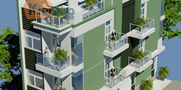 Tư vấn thiết kế nhà mặt phố 4 tầng với 2 mặt tiền đẹp