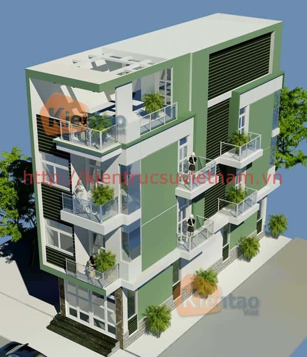 nha 4 tang 2 mat tien - Mẫu nhà phố 1 trệt 3 lầu và 1 lửng hiện đại đẹp kiến cố
