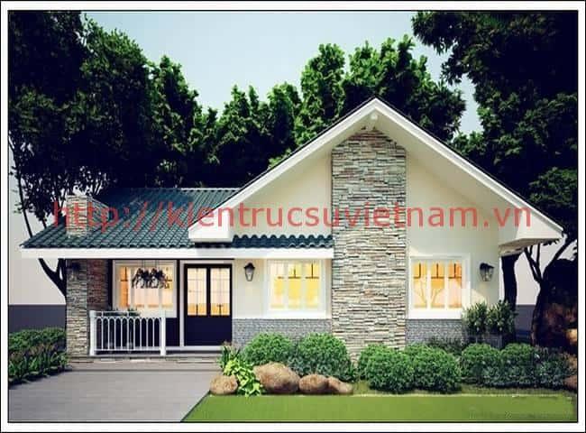 mau nha dep 1 tang o nong thon - Thiết kế nhà 3 tầng anh Đoàn Ngọc Quang - Đà Nẵng