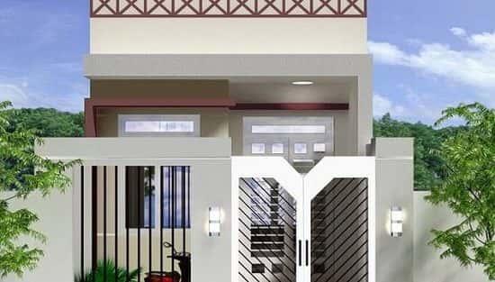 Mẫu thiết kế nhà cấp 4 với diện tích 8x15m
