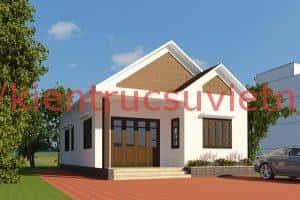 mau thiet ke nha cap 4 voi dien tich 9x9m 300x200 - mẫu nhà cấp 4 đẹp ở nông thôn việt nam