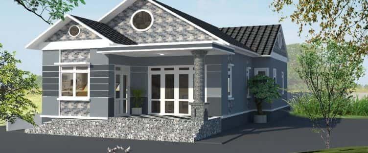 Mẫu thiết kế nhà cấp 4 với kinh phí 8x10m