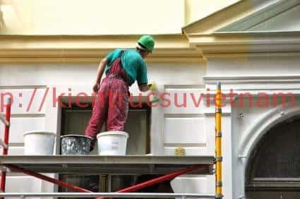 sonnha - Xây nhà xong bao lâu thì sơn được