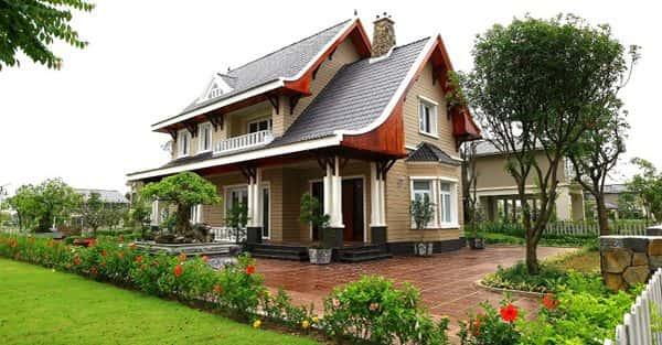 Xây nhà vườn 2 tầng đẹp