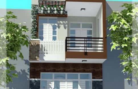 chi phí xây nhà 2 tầng 35m2