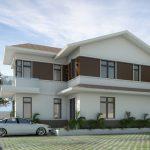 Biệt thự 2 tầng chữ L đẹp 150x150 - Thiết kế nhà đẹp ở tại tphcm