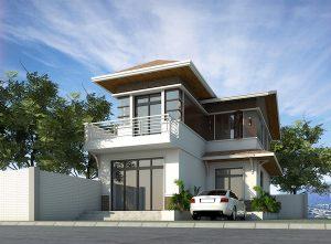 Biệt thự 2 tầng chữ L 300x221 - 10 Mẫu thiết kế biệt thự 3 tầng mái thái mang phong cách hiện đại đẹp