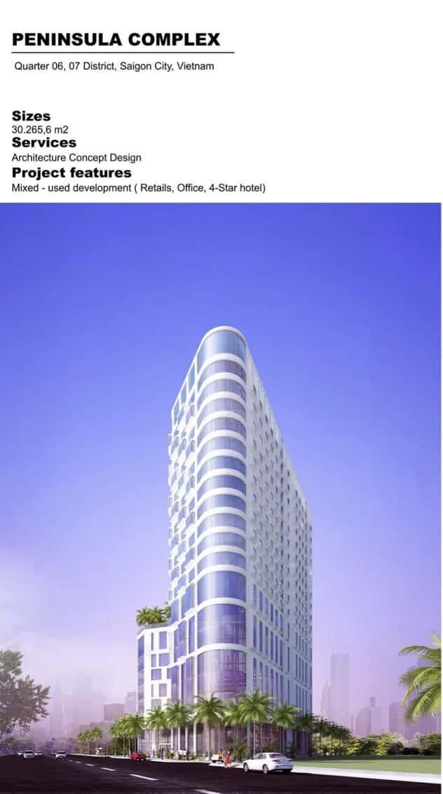 PENINSULA COMLPEX - Thiết kế toà nhà phức hợp cao tầng quận 7, TPHCM