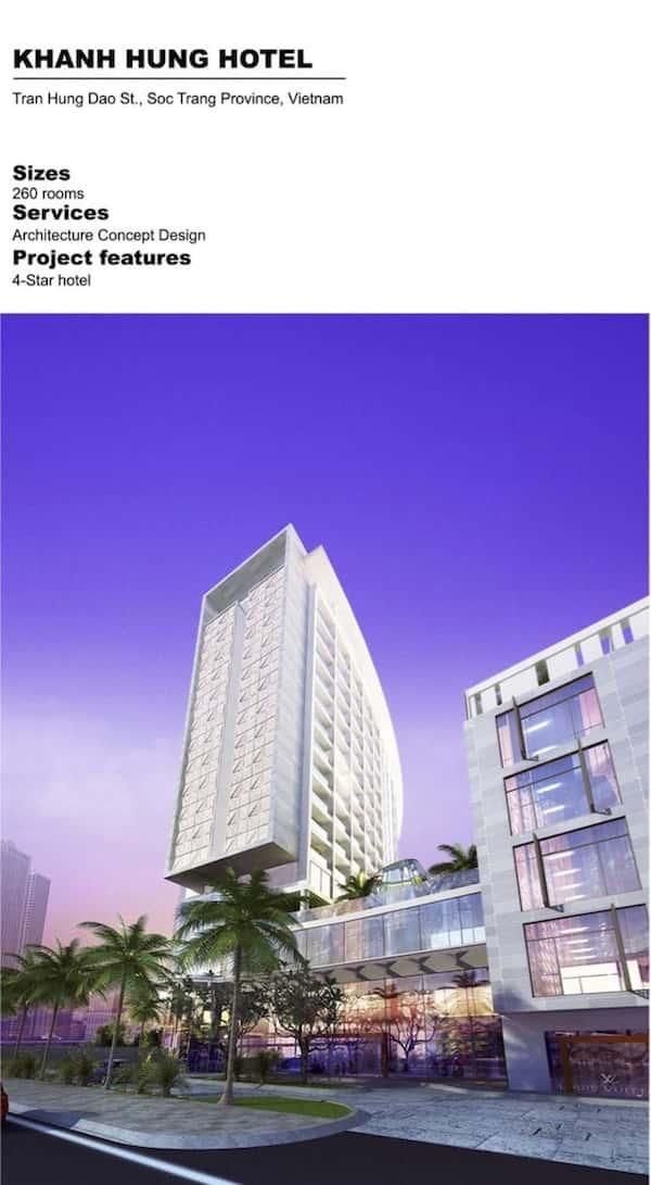 khanh hung hotel - Thiết kế khách sạn 4 sao với 260 phòng ở Sóc Trăng