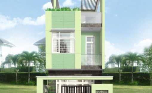 mẫu nhà đẹp 2 tầng diện tích 5×20