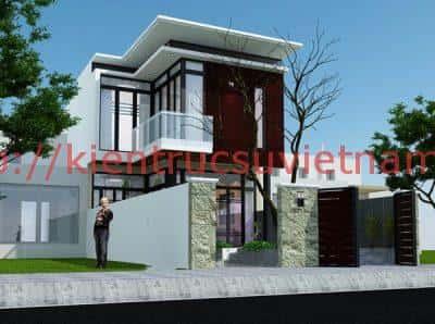 mau nha pho 2 tang 5x20m e1515377649471 - Thiết kế nhà 2 tầng đẹp