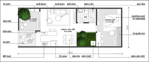 nhà phố 1 tầng 1 - Tổng hợp 5 mẫu nhà phố 1 tầng đẹp và sang trọng