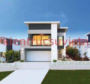 nha 2 tang dep 300x280 - thiết kế nhà 2 tầng 7x10m