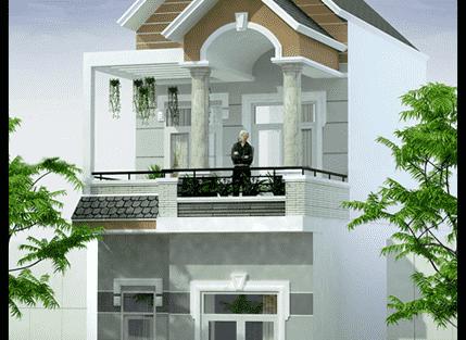 Nhà ống 2 tầng mái thái