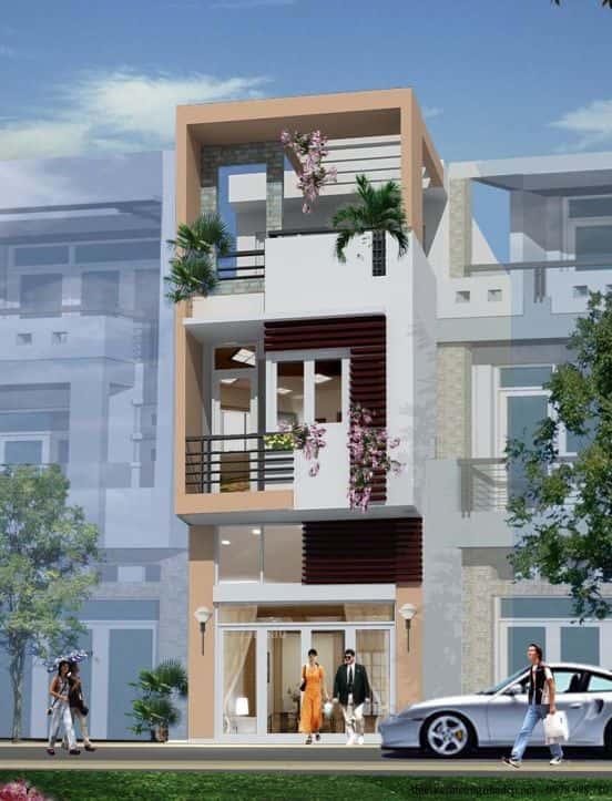 nha pho 3 tang dep dien tich 4x16m2 - xây nhà 3 tầng với 700 triệu