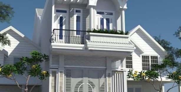 mẫu nhà đẹp 2 tầng diện tích 5x20m