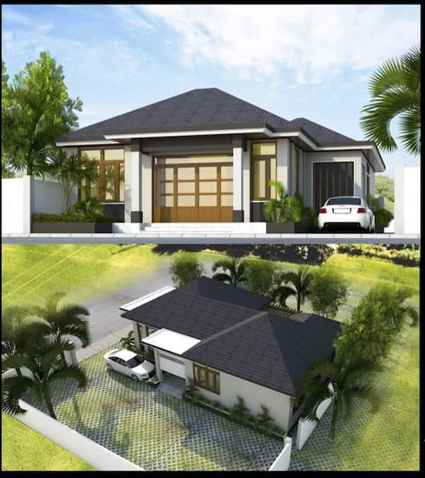 thiet ke biet thu 1 tang dong nai 1 - Thiết kế Biệt Thự Mini Cấp 4 đẹp và Chuyên Nghiệp