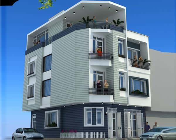 tu van thiet ke kien truc nha 2 mat tien 20m2 - 45 Mẫu nhà đẹp hai mặt tiền với kiến trúc hiện đại