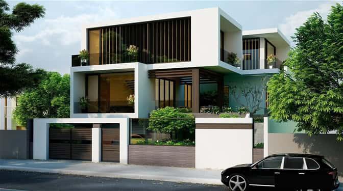 xây nhà biệt thự đẹp hiện đại