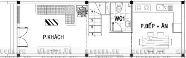 Tư vấn xây nhà diện tích 4x9m.
