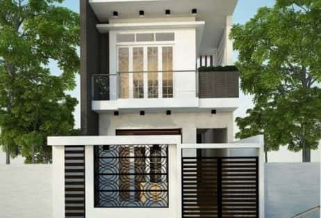 mẫu nhà 2 tầng 1 tum hiện đại