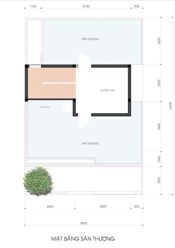mau nha 3.5 tang NHA MS LAN 1 - Thiết kế nhà phố 3.5 tầng chị Lan quận 9