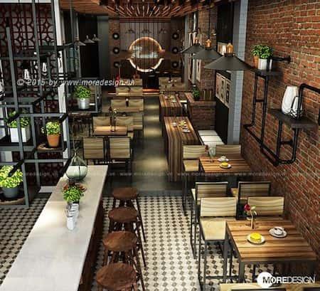 thiet ke quan cafe dep 8 - Những phong cách kiến trúc cafe được ưa chuông hiện nay