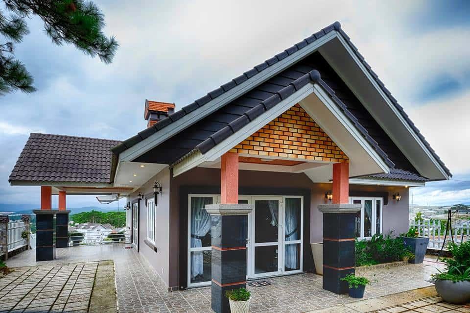 Uyen Khang Villa dep - Kiến trúc độc đáo biệt thự Uyen Khang Villa 1 tầng đẹp sang trọng ở Đà Lạt