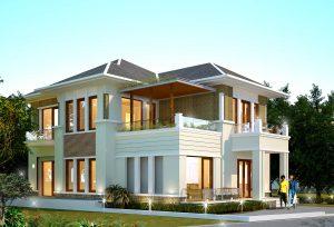 biệt thự đơn lâpk 300x204 - Top 10 mẫu thiết kế biệt thự đơn lập đẹp đẳng cấp