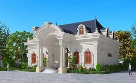 Top 10 mẫu thiết kế biệt thự cổ điển 1 tầng đẹp