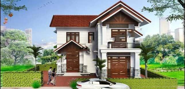 Thiết kế nhà 2 tầng ở nông thôn đẹp 2018