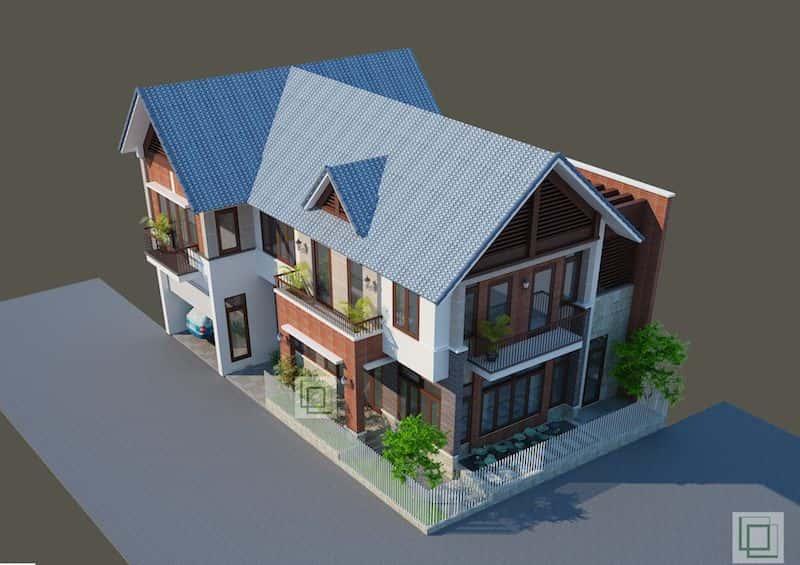 biet thu dep 3 - Mẫu thiết kế nhà đẹp phong cách hiện đại