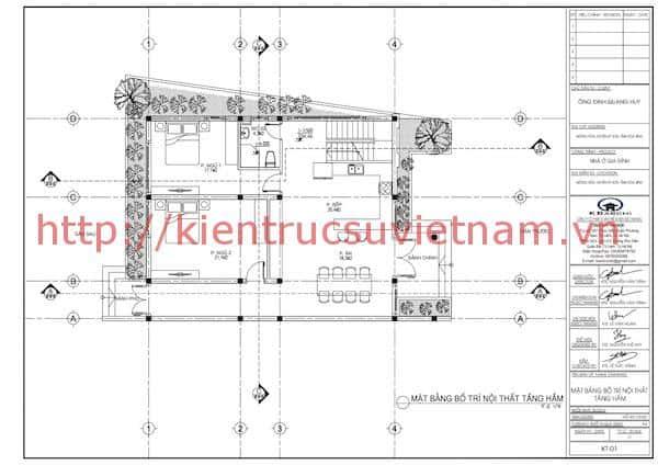 mat bang tang 1 nha 2 tang hien dai - Công trình nhà 2 tầng hiện đại anh Huy Hoà Bình