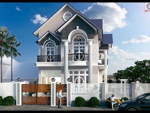 nha chu l 2 tang 1a - Mẫu thiết kế nhà đẹp phong cách hiện đại