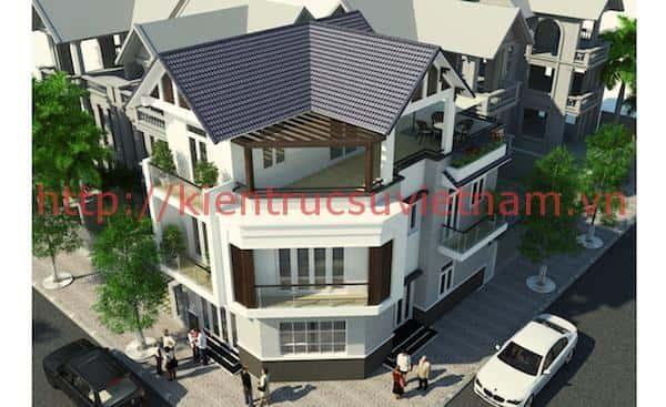 CHOT 2 - Công trình thiết kế biệt thự 3 tầng mái dốc anh Tường TP Cần Thơ