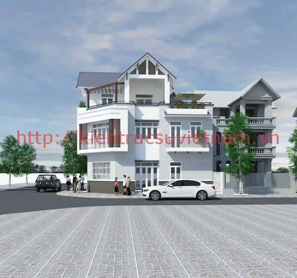 anh moi Scene 6 - Công trình thiết kế biệt thự 3 tầng mái dốc anh Tường TP Cần Thơ